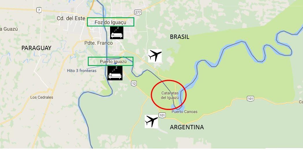Cataratas De Iguazu Lado Argentino Mapa.Como Llegar A Las Cataratas Del Iguazu Y Planning Del Viaje