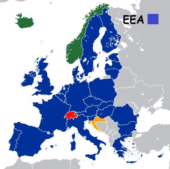 Img post Paises miembros Espacio Economico Europeo (EEA). Tarjeta Revolut - Pasaporte y Millas
