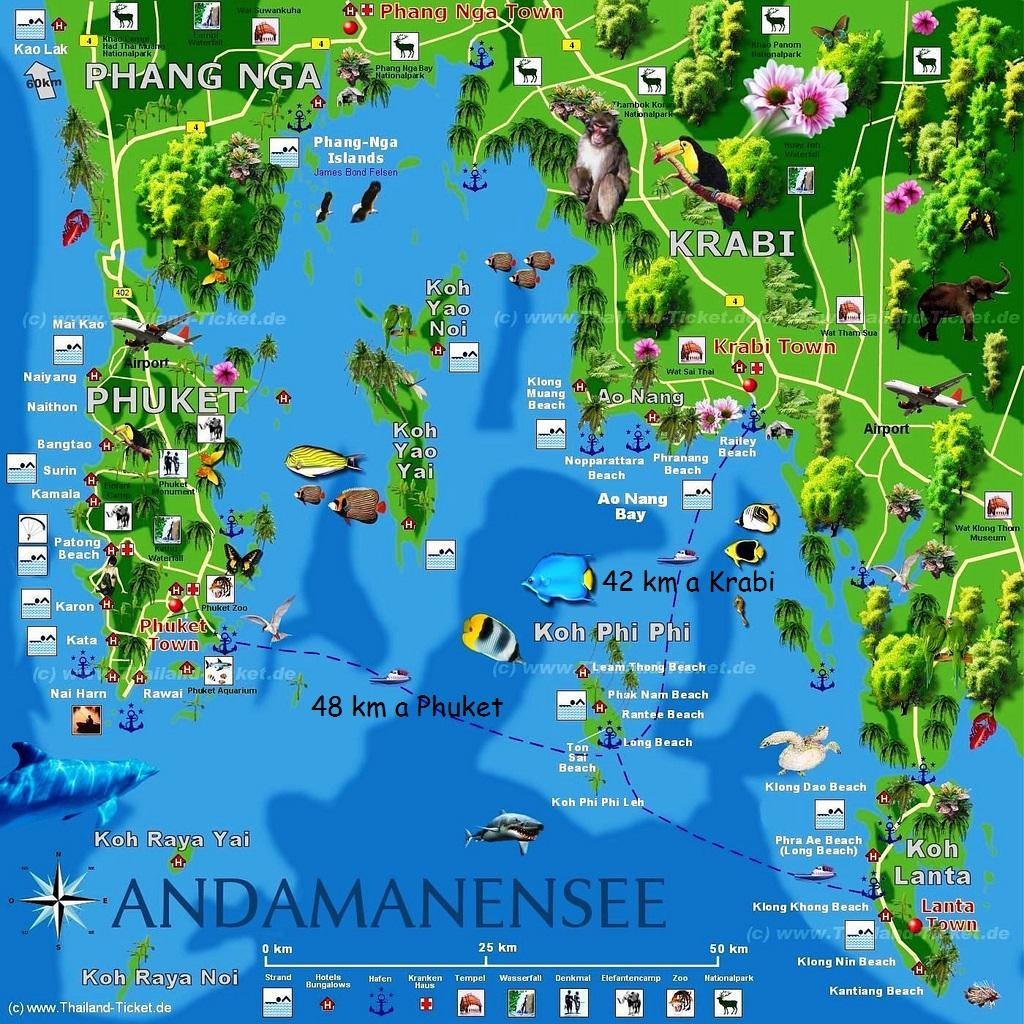Img post Imagen Mapa Phi Phi. Tres días en Phi Phi - Pasaporte y Millas