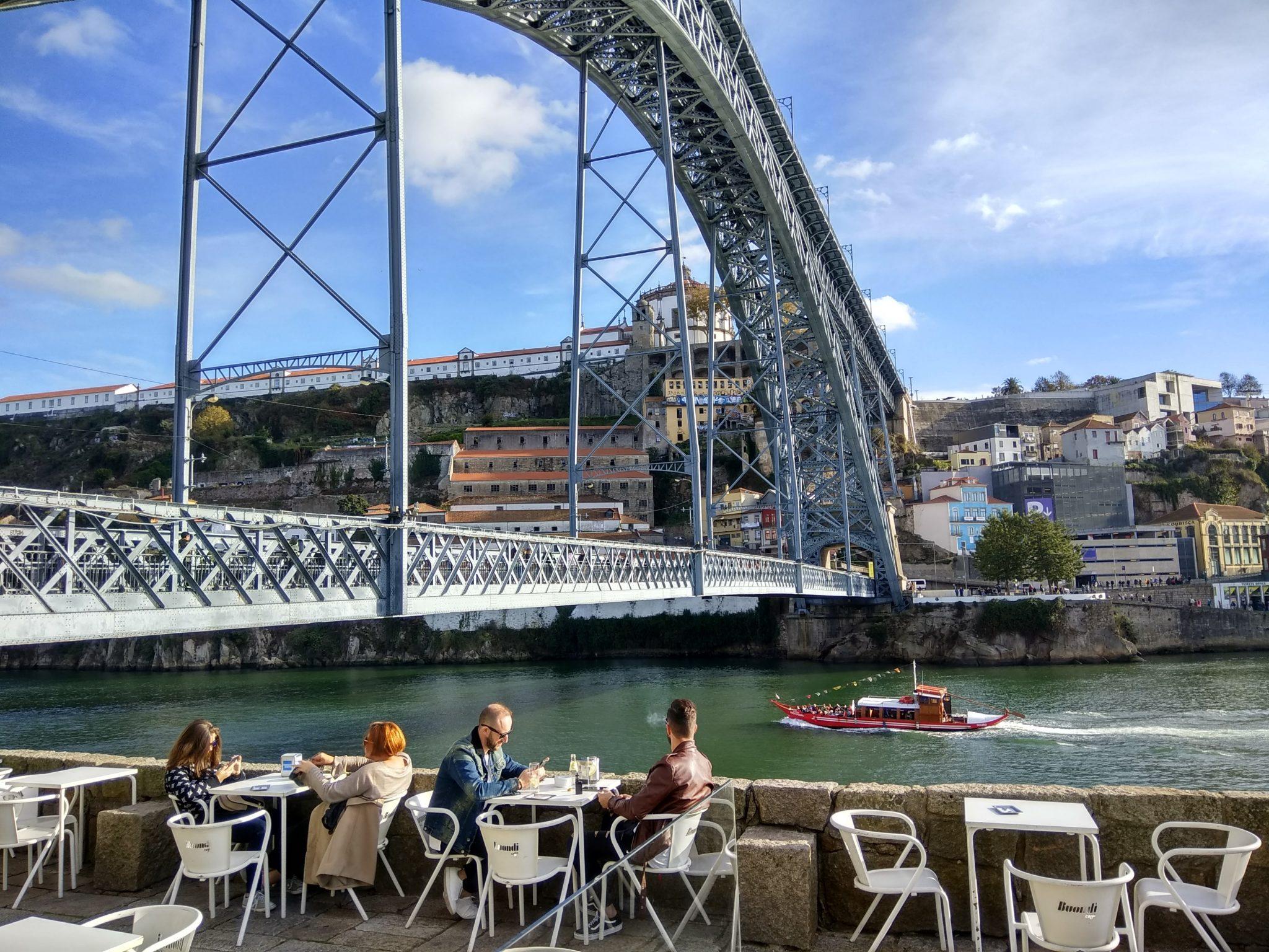 Imagen post 2 días en Oporto. Cafe junto al puente Luis I - Pasaporte y Millas