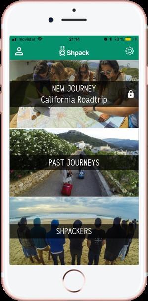 Compartir fotos de viajes. Shpack. Activar Viaje 1 - Pasaporte y Millas