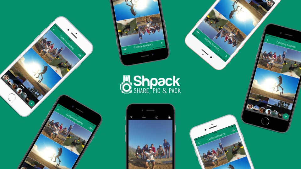 Logo Shpack,la app para compartir las fotos de los viajes-Pasaporte y Millas