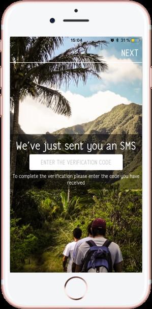 Compartir fotos de viajes. Shpack. Validar sms - Pasaporte y Millas