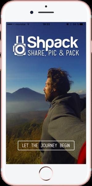 Compartir fotos de viajes. Shpack. Descargar App-Pasaporte y Millas