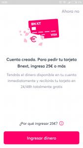 Imagen post tarjeta bnext_13. Cuenta creada- Pasaporte y Millas