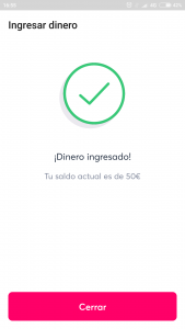 Imagen post tarjeta bnext_Ingresar dinero_confirmacion - Pasaporte y Millas