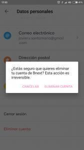 Imagen post tarjeta bnext_darse de baja_confirmar baja - Pasaporte y Millas