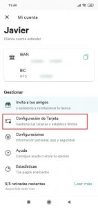 Imagen post Tarjeta N26. Seguridad. Configuracion Tarjetas - Pasaporte y Millas