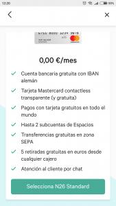 Imagen post Tarjeta N26. Tipo de cuenta N26. Paso 4 - Pasaporte y Millas