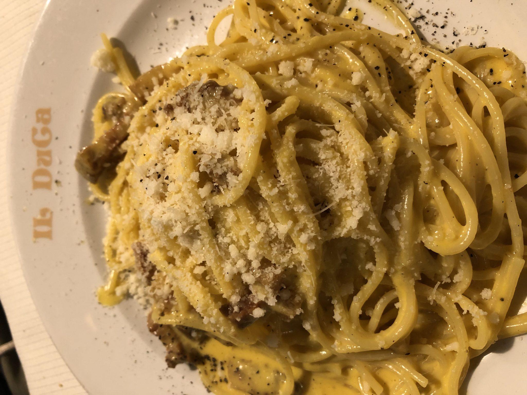 La mejor pasta carbonara de Roma. Il Duca- Pasaporte y Millas