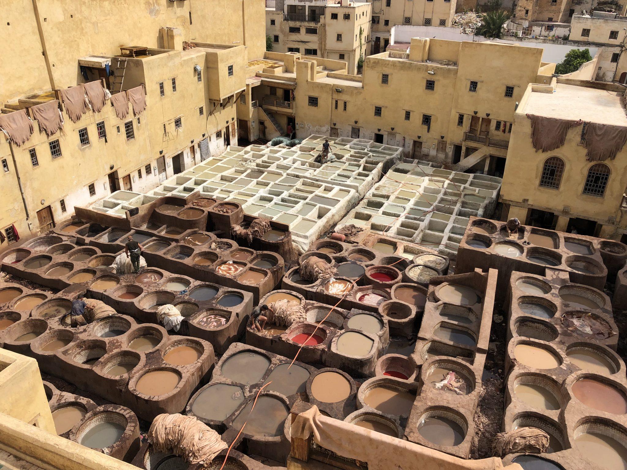 Tres días en Fez. Curtidores de Pieles - PASAPORTE Y MILLAS